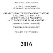 ملزومات مربوط به مذاکرات توقف مسابقه تسلیحاتی هستهای و خلع سلاح هستهای