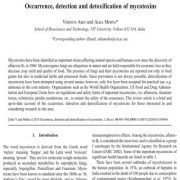 وقوع، تشخیص و سم زدایی مایکوتوکسین ها