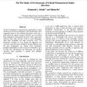 مطالعه توسعه جاذب رادار فرامواد باند X