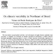 تغییر پذیری اقلیم در شمال شرق برزیل
