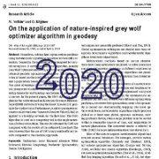 کاربرد الگوریتم بهینه ساز گرگ خاکستری الهام گرفته از طبیعت در ژئودزی