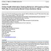 رفتارهای جست و جوی اطلاعات سلامت آنلاین اسپانیایی زبانها در شهر نیویورک
