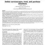 رابطه بین سرویس دهی آنلاین، اعتماد و قصد خرید مشتریان