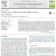 بررسی وزن های بهینه در مدل های DEA با قیود وزنی