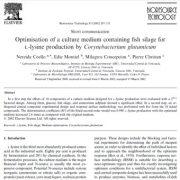 بهینه سازی محیط کشت حاوی سیلاژ ماهی برای تولید لیزین توسط