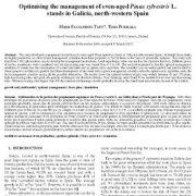بهینه سازی مدیریت پایه های Pinussylvestris L.