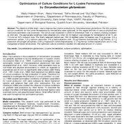 بهینه سازی شرایط کشت برای تخمیر L-lysine توسط