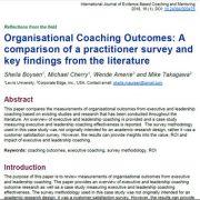 برایندها و پیامدهای مربیگری سازمانی: مقایسهی یک نظر سنجی تخصصی