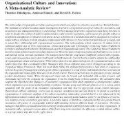 فرهنگ سازمانی و نوآوری: مروری فراتحلیلی