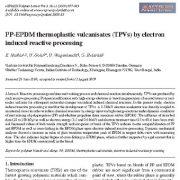 ولکانیزات ترموپلاستیک PP-EPDM(TPV) با فراوری واکنشی الکترونی