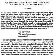 تبدیل کردن  ترس و هراس به جذابیت هراس: مدل فرایند موازی