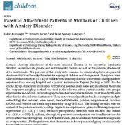 "<span itemprop=""name"">الگوهای دلبستگی(وابستگی) والدین در مادران کودکان مبتلا به اختلال اضطراب</span>"