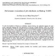 بررسی و ارزیابی عملکرد زمان بندهای وظایف بر روی چارچوب نرم افزاری Hadoop YARN
