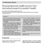 پروندههای الکترونیکی سلامت شخصی: از تحقیقات زیست پزشکی تا سلامت مردم