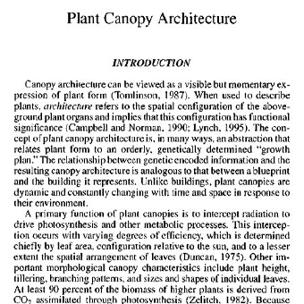 معماری تاج پوشش گیاه