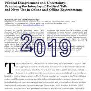 اختلافات سیاسی و عدم قطعیت: بررسی برهمکنش و گفتمانهای سیاسی