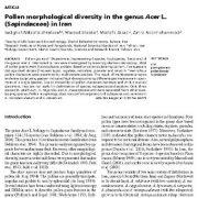تنوع مورفولوژیکی  گرده در جنس  افرا