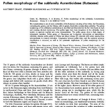 مورفولوژی گرده زیرخانواده پورنج (یافا) (Rutaceae)