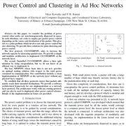 کنترل توان و خوشه بندی در شبکههای ادهاک