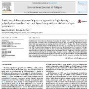پیش بینی رشد ناپیوسته ترک خستگی در پلی اتلین با تراکم بالا بر اساس تئوری لایه ترک