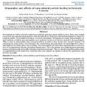 آماده سازی و اثرات خوراک نانوذرات معدنی در دامها: یک مقاله مروری