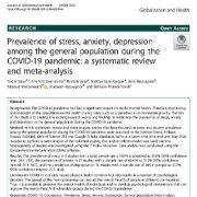 شیوع استرس، اضطراب، افسردگی در میان جمعیت عمومی