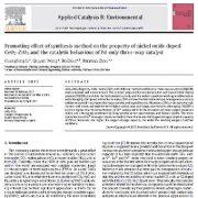 اثر افزایشی روش سنتز بر روی خواص CeO2-ZrO2 دوپ شده