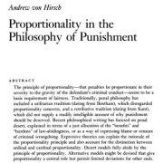 اصل تناسب در فلسفه مجازات