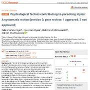 عوامل روانشناختی موثر بر سبک های تربیتی(فرزند پروری): یک مرور سیستماتیک