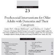مداخلات روانشناختی در افراد کهنسال و مسن و مبتلا به زوال عقل و مراقبان آنها