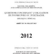 مسائل حقوقی مربوط به تعهد استرداد بلژیک- سنگال