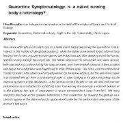 علائم شناسی قرنطینه: آیا دویدن با یک بدن برهنه، غیر عادی است؟