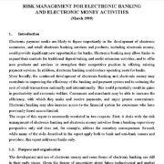 مدیریت ریسک برای بانکداری الکترونیک و فعالیت های پول الکترونیک