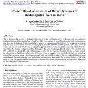 ارزیابی مبتنی بر RS-GIS پویایی رودخانه برهماپوترا در هند
