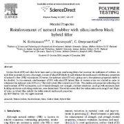 تقویت لاستیک طبیعی با پر کننده هیبرید کربن سیاه/سیلیسم