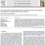 بررسی مجدد رابطه بین ساختار مالکیت و مدیریت انوانتوری