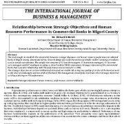 رابطه بین اهداف استراتژیک و عملکرد منابع انسانی در بانکهای تجاری