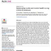کیفیت رابطه و سلامت روان در زمان قرنطینه ی کوید-۱۹