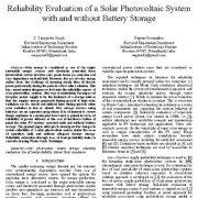 ارزیابی قابلیت اطمینان از سیستمهای خورشیدی فتوولتائیک با و بدون ذخیره سازی باتری