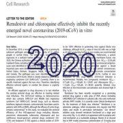 رمدسیویر و کلروکوین موجب مهار کروناویروس  جدید(۲۰۱۹-Ncov)