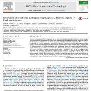 مقاومت کلی فازهای پاتوژن غذا زاد به  افزودنی های به کار برده شده