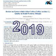 بررسی عوامل مؤثر بر کیفیت قهوه (Coffea Arabica L.) در جنوب غربی