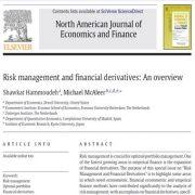 مدیریت خطر(ریسک) و مشتقات مالی : مقاله مروری