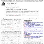 روش آزمون آزمایش استاندارد برای خاصیت لاستیک – سختی دورومتر