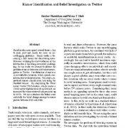 شناسایی شایعات و تحقیقات مربوط به باور در توییتر