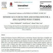تشخیص خرابی سنسور و برآورد یک DFIG مجهز به توربین بادی