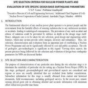 معیارهای انتخاب سایت برای نیروگاه هستهای و ارزیابی پارامترهای زمینی