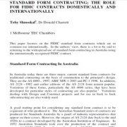 عقد قراردادهای با فرم استاندارد: نقش داخلی و بین المللی قرار داد های فیدیک