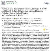 "<span itemprop=""name"">رفتار  بی تحرکی در مدرسه، فعالیت فیزیکی و پیامد های مرتبط با سلامت در میان کودکان</span>"