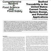 قابلیت ردیابی غذاهای دریایی در ایالات متحده: روندهای فعلی